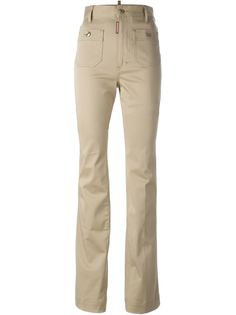 расклешенные брюки с завышенной талией Dsquared2