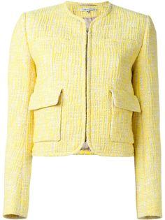 твидовый пиджак с накладными карманами Carven