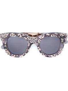 солнцезащитные очки с леопардовым принтом  Cutler & Gross