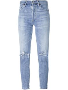 джинсы скинни с потертой отделкой Citizens Of Humanity