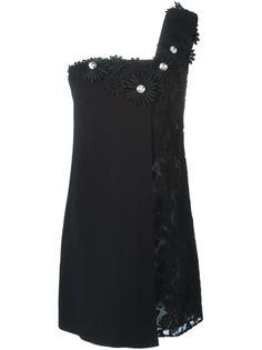 платье с цветочной аппликацией  Emanuel Ungaro