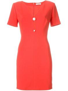 платье мини c V-образным вырезом  Mugler