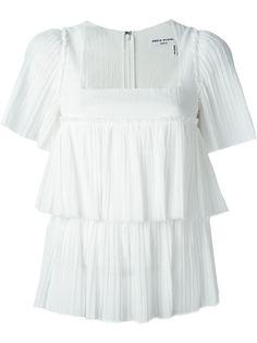 плиссированная многослойная блузка Sonia Rykiel