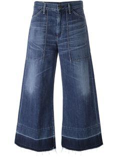 укороченные широкие джинсы  Citizens Of Humanity