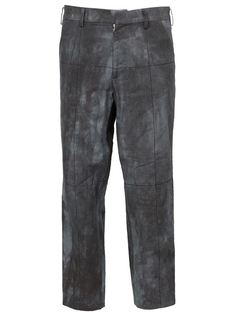 укороченные брюки с линялым принтом Aganovich