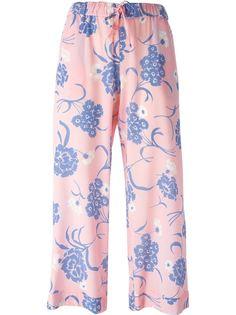 укороченные брюки с цветочным принтом P.A.R.O.S.H.