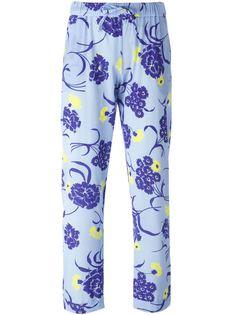 брюки с цветочным принтом P.A.R.O.S.H.