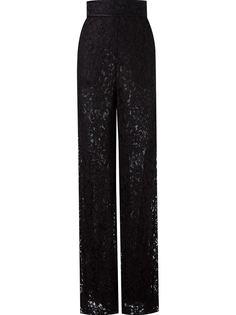lace wide leg trousers Martha Medeiros