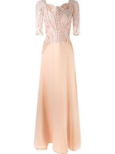 вечернее платье с кружевным верхом Martha Medeiros