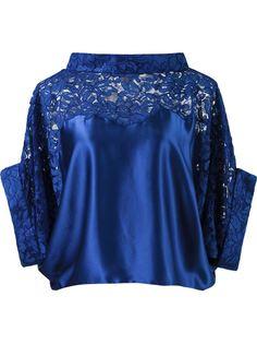 укороченная кружевная блузка Martha Medeiros