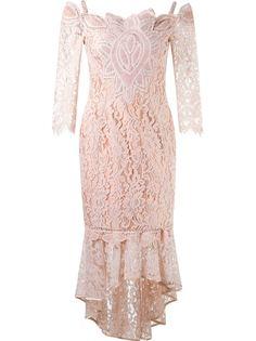 midi lace dress Martha Medeiros