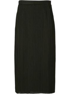 юбка в рубчик с вышивкой Julien David