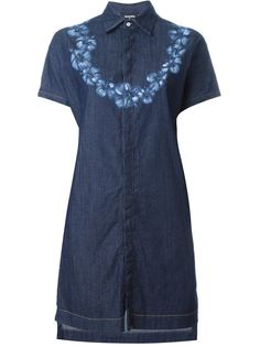 джинсовое платье-рубашка  Dsquared2