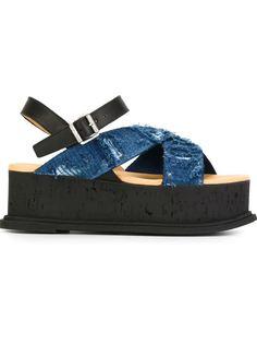 сандалии на платформе  Mm6 Maison Margiela