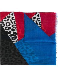 шарф дизайна колор-блок Saint Laurent
