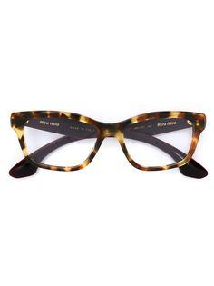 очки в декорированной оправе Miu Miu Eyewear