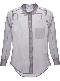 прозрачная рубашка Thom Browne