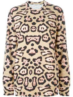 толстовка с леопардовым принтом   Givenchy