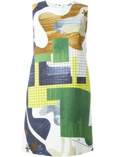 платье с абстрактным принтом  MSGM