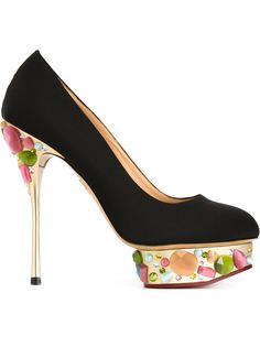 декорированные туфли Dolly Charlotte Olympia
