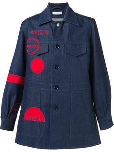 джинсовое пальто с графическим принтом JW Anderson