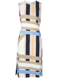 полосатое платье без рукавов  MSGM