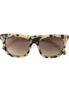 солнцезащитные очки с леопардовым принтом   Stella Mccartney Eyewear