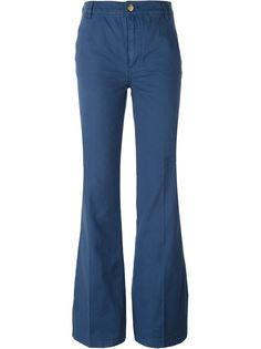 расклешенные брюки Tory Burch