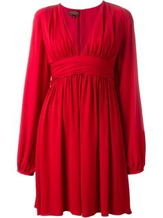 платье с глубоким V-образным вырезом Giambattista Valli