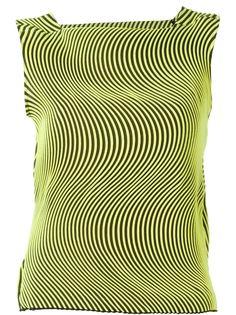 топ с волнообразным гофрированным дизайном  Issey Miyake