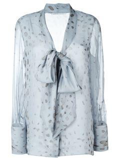 прозрачная блузка с бантом  Agnona
