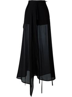 широкие прозрачные брюки Ann Demeulemeester