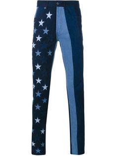 полосатые джинсы с принтом звезд Givenchy