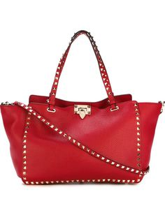 трапециевидная сумка-тоут Rockstud Valentino