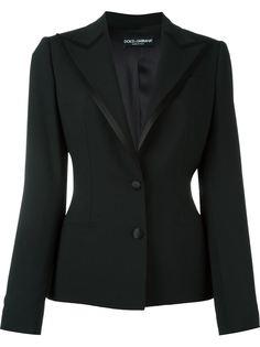 приталенный пиджак с атласной оторочкой Dolce & Gabbana