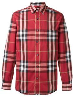 рубашка в клетку Burberry 62e27a76a4b