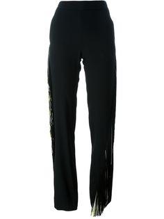 прямые брюки с бахромой Christopher Kane