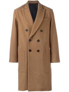 объемное двубортное пальто Ami Alexandre Mattiussi
