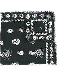 шарф с принтом Alexander McQueen