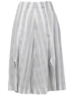 полосатая юбка А-силуэта Anrealage