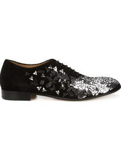 туфли Дерби с отделкой из зеркальных деталей Maison Margiela