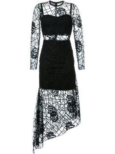 прозрачное платье Wild Rose Manning Cartell