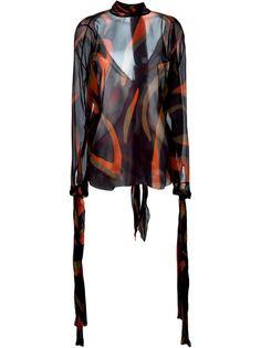 топ с зебровым принтом Versace