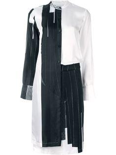 многослойное платье с контрастным принтом DKNY