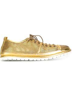 туфли на шнуровке с отделкой металлик Marsèll
