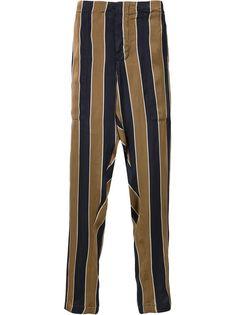 полосатые брюки с заниженным шаговым швом Uma Wang