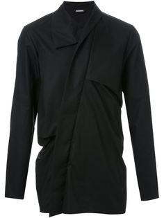рубашка с драпированным воротником Moohong