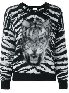 свитер с тигровым узором Saint Laurent