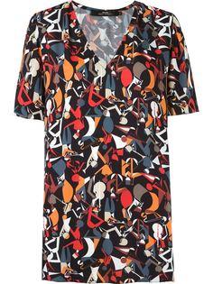 блузка с абстрактным принтом Andrea Marques