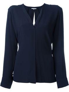 блузка c V-образным вырезом   Helmut Lang